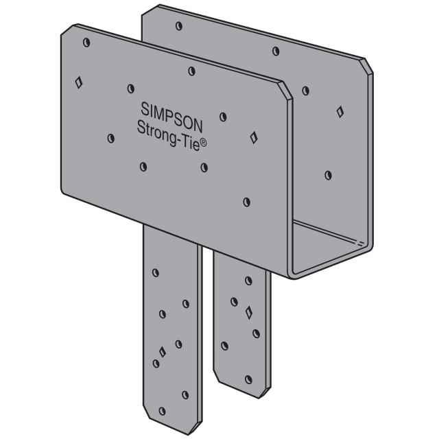 Simpson eccq sds rot end column cap w screws