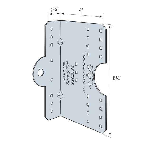 Simpson ssc r steel stud connector pkg